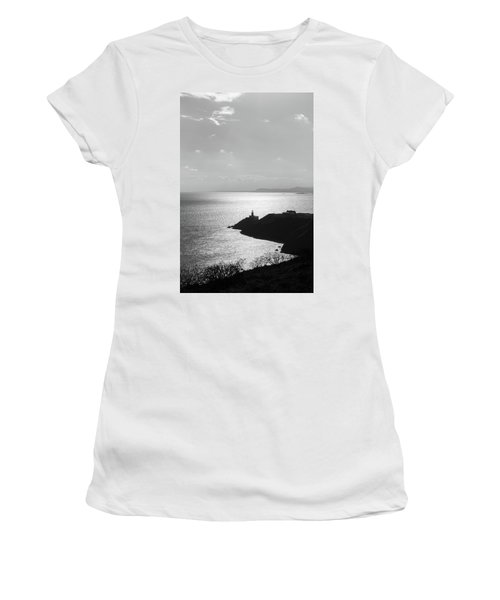 View Of Howth Head With The Baily Lighthouse In Black And White Women's T-Shirt (Junior Cut) by Semmick Photo