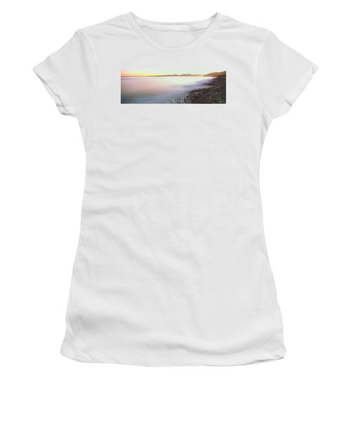 View Of Sunrise Over Pacific Ocean Women's T-Shirt
