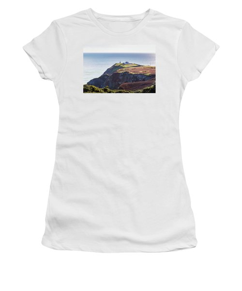 View Of The Trails On Howth Cliffs And Howth Head In Ireland Women's T-Shirt (Junior Cut) by Semmick Photo