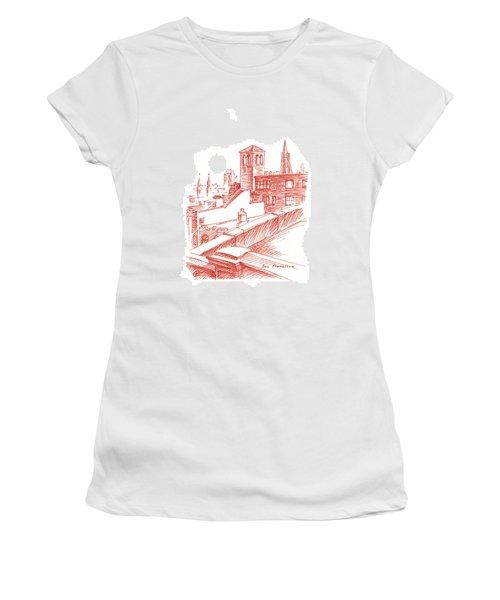 View Of Transamerica Pyramid Through Chestnut Street Women's T-Shirt