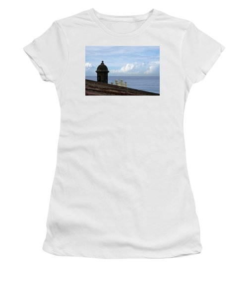 View To The Sea From El Morro Women's T-Shirt (Junior Cut) by Lois Lepisto