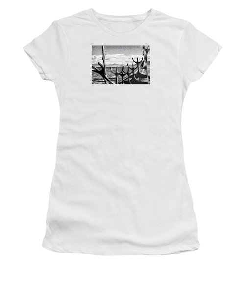 Women's T-Shirt (Junior Cut) featuring the photograph Viking Tribute by Rick Bragan