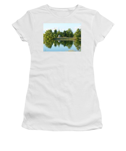 Village In Ohio Women's T-Shirt (Junior Cut) by Donald C Morgan