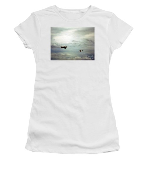 Vintage Airplanes Women's T-Shirt (Athletic Fit)