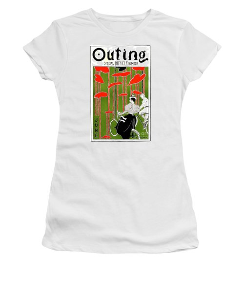 Women's T-Shirt (Junior Cut) featuring the photograph Vintage Bicycle Issue 1896 by Padre Art