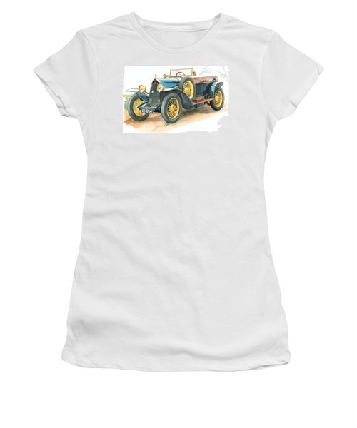 Vintage Blue Bugatti Classic Car Women's T-Shirt