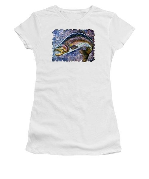 Vintage Blue Trout Fresco  Women's T-Shirt (Athletic Fit)