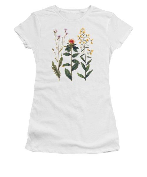 Vintage Botanical Wildflowers Women's T-Shirt