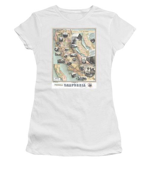 Vintage California Map Women's T-Shirt