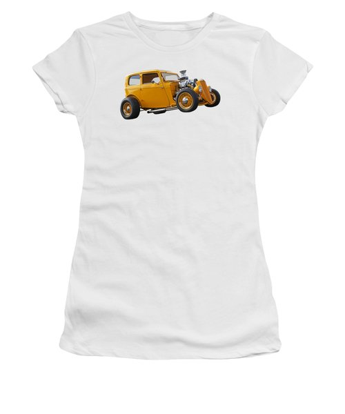 Vintage Ford Hot Rod In Yellow Women's T-Shirt