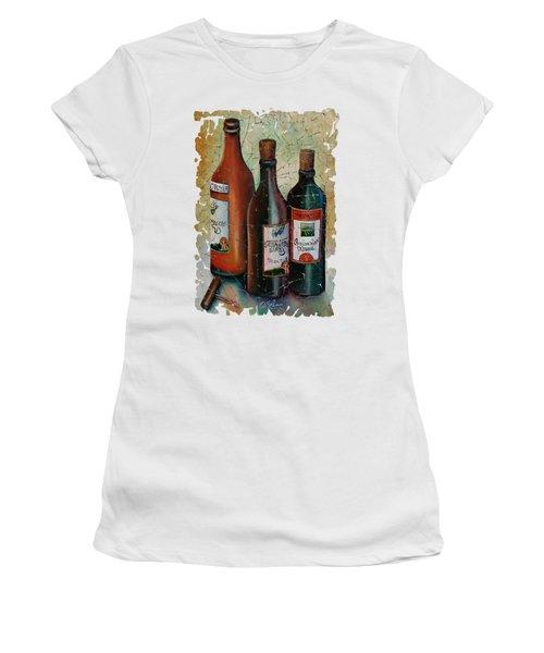 Vintage Georgian Wine Fresco Women's T-Shirt (Junior Cut) by Lena  Owens OLena Art