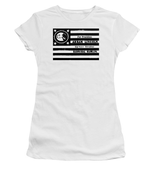 Vintage Presidential Campaign Flag Of Abraham Lincoln For President Women's T-Shirt