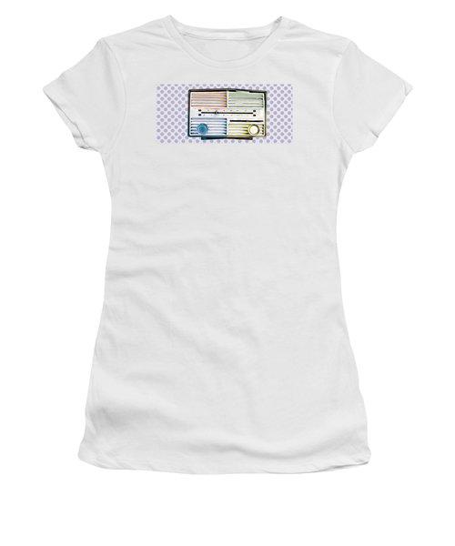 Vintage Radio Purple Dots Mug Women's T-Shirt