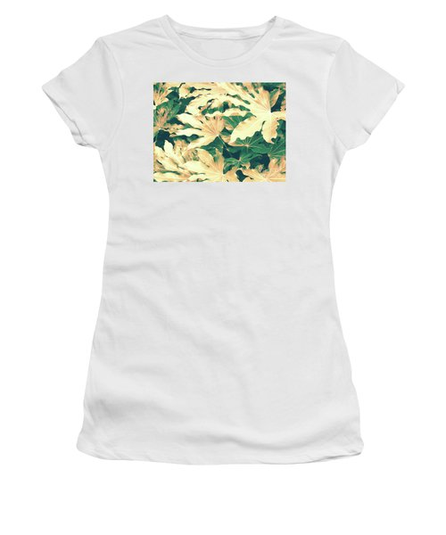 Women's T-Shirt (Athletic Fit) featuring the photograph Vintage Season Gold by Rebecca Harman