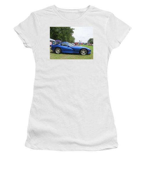 Women's T-Shirt (Athletic Fit) featuring the photograph Viper Lines by Aaron Martens