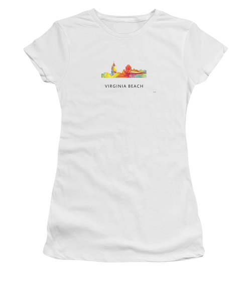 Virginia Beach  Virginia Skyline Women's T-Shirt (Junior Cut) by Marlene Watson
