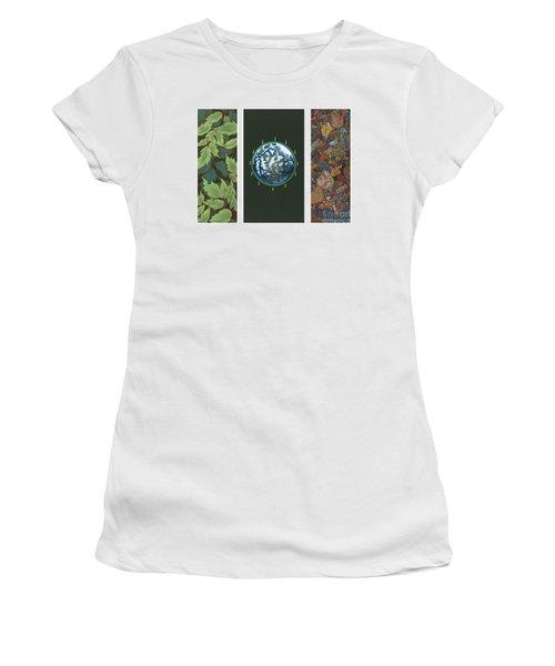 Viriditas Triptych Women's T-Shirt