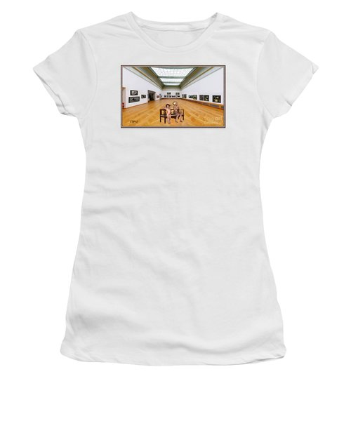 Virtual Exhibition - 32 Women's T-Shirt (Junior Cut) by Pemaro