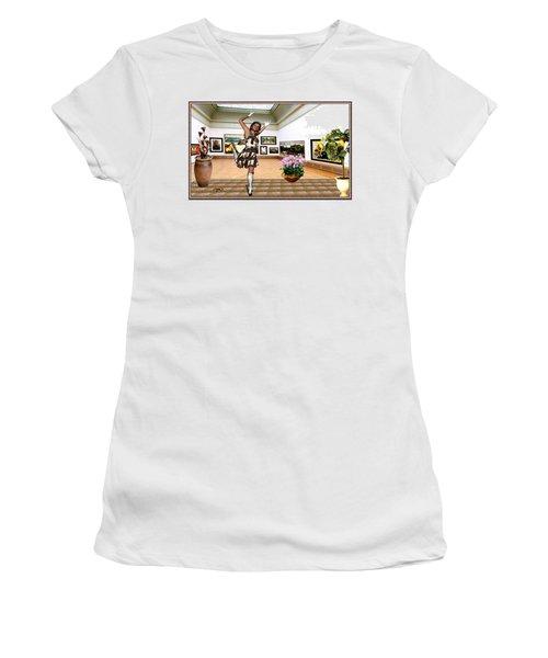Virtual Exhibition - A Girl With A Pairro Dress Women's T-Shirt (Junior Cut) by Danail Tsonev