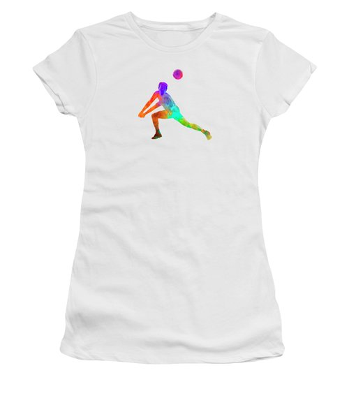 Volley Ball Player Man 03 In Watercolor Women's T-Shirt