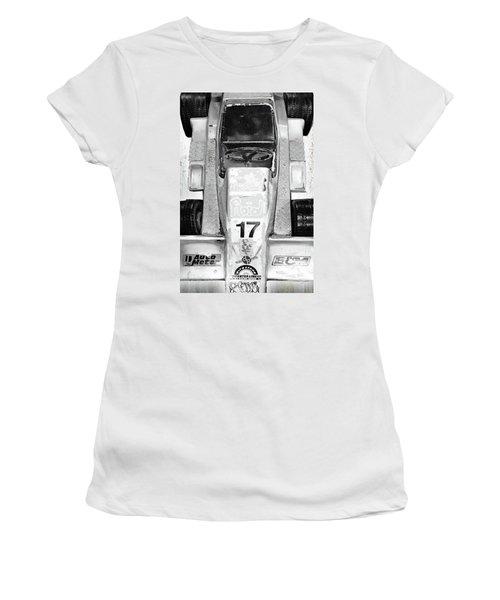 Women's T-Shirt (Junior Cut) featuring the mixed media Vroom by Tony Rubino