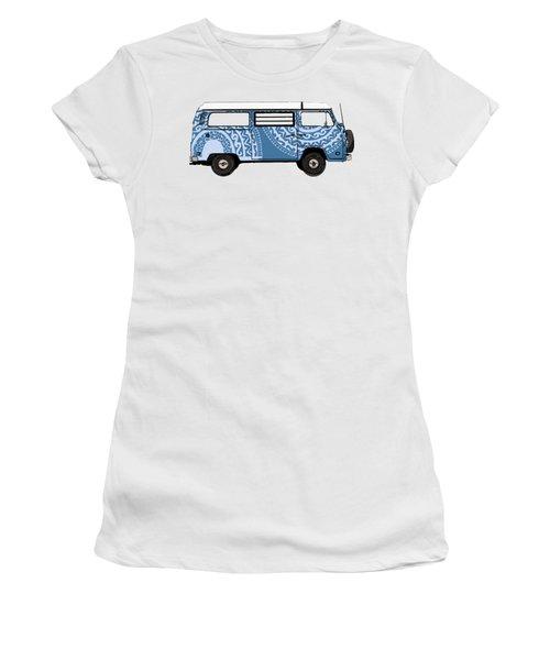 Vw Blue Van Women's T-Shirt