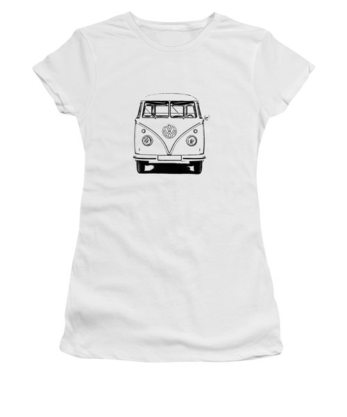 Vw Bus T-shirt Women's T-Shirt (Junior Cut) by Edward Fielding