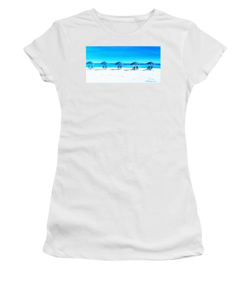 Waiting For The Beach Sitters Women's T-Shirt (Athletic Fit)