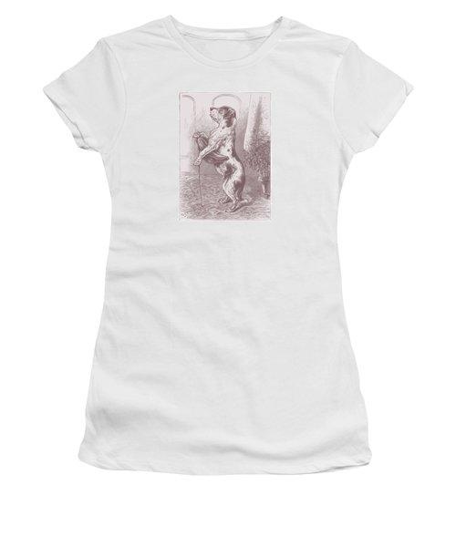 Walkies? Women's T-Shirt (Junior Cut) by David Davies