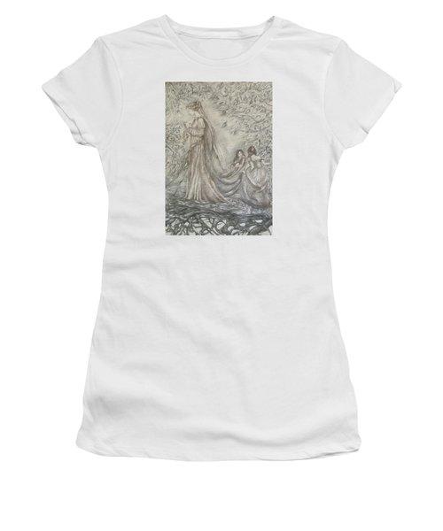 Walking In The Magic Garden Women's T-Shirt (Junior Cut) by Rita Fetisov