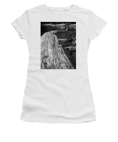 Walking On A Log Women's T-Shirt (Athletic Fit)