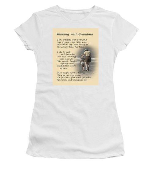 Walking With Grandma Women's T-Shirt