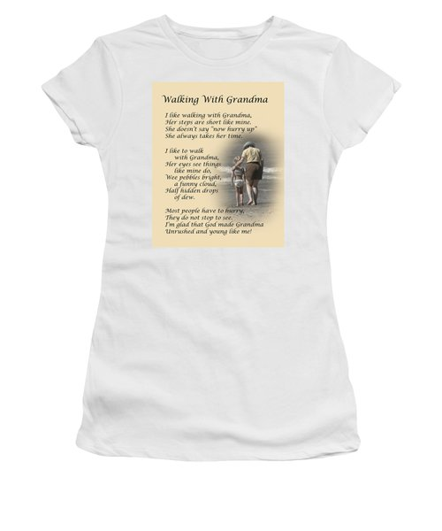 Walking With Grandma Women's T-Shirt