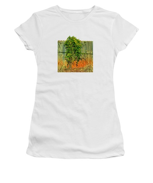 Wall Of Jasmine Women's T-Shirt (Junior Cut) by Larry Bishop