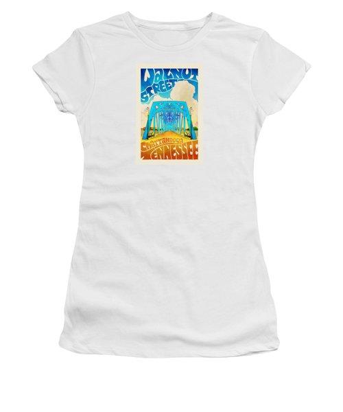 Walnut Street Poster Women's T-Shirt (Athletic Fit)