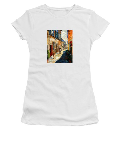 Warmth Of A Barcelona Street Women's T-Shirt (Junior Cut) by Andre Dluhos