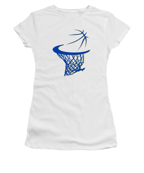 Warriors Basketball Hoop Women's T-Shirt (Junior Cut) by Joe Hamilton