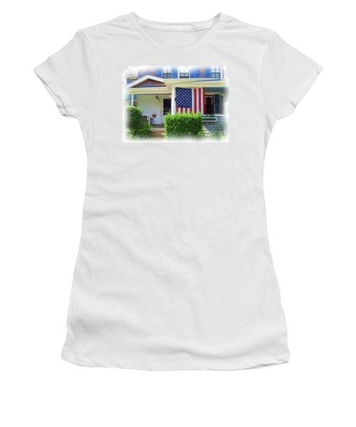 Watch Hill Ri Cottage Women's T-Shirt (Junior Cut) by Joan Hartenstein
