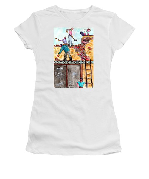 Watching Construction Workers Women's T-Shirt
