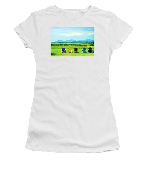 Watching The Grapes Grow Women's T-Shirt (Athletic Fit)