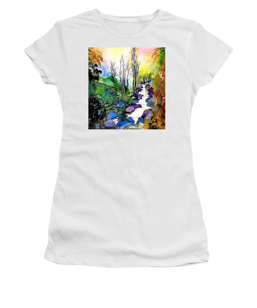 Water And Air Women's T-Shirt (Athletic Fit)
