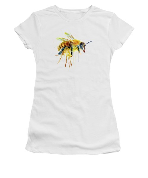 Watercolor Bee Women's T-Shirt (Athletic Fit)