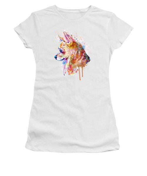 Watercolor Chihuahua  Women's T-Shirt (Athletic Fit)