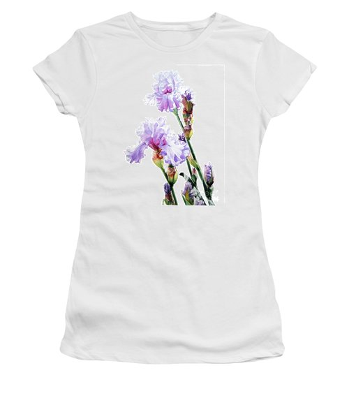 Watercolor Of A Tall Bearded Iris I Call Lilac Iris Wendi Women's T-Shirt (Athletic Fit)