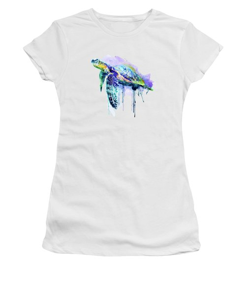 Watercolor Sea Turtle Women's T-Shirt