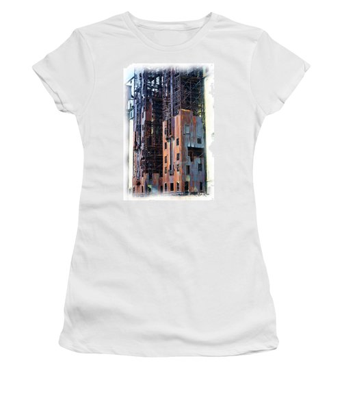 Women's T-Shirt featuring the digital art Waterfront Decay One by Richard Ricci