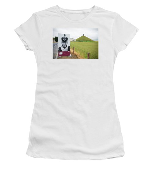 Women's T-Shirt (Junior Cut) featuring the photograph Waterloo Memorial by Hans Engbers