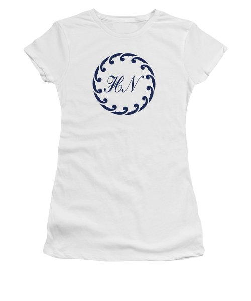 Wave Ring And Cipher In Blue Women's T-Shirt