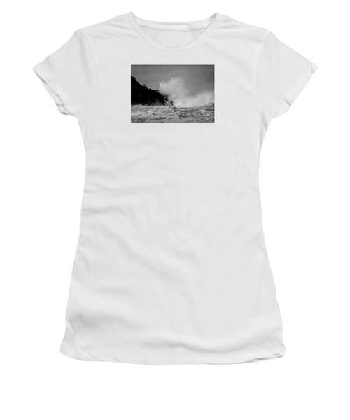 Women's T-Shirt (Junior Cut) featuring the photograph Wave Watching by Roy McPeak