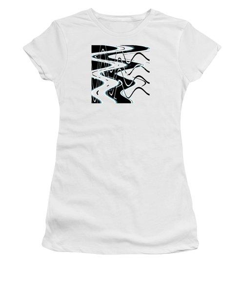 Women's T-Shirt (Junior Cut) featuring the digital art Wavelengths by Adria Trail